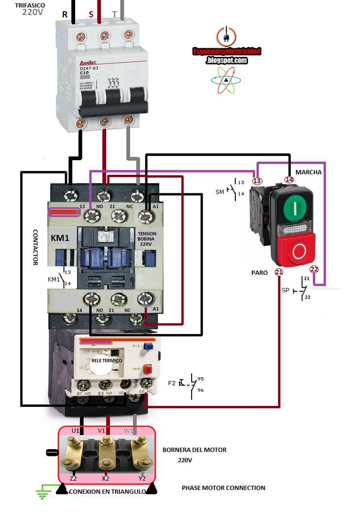 Ac Blower Motor Wiring Diagram Furthermore 3 Phase Star Delta Motor - Ac Contactor Wiring Diagram