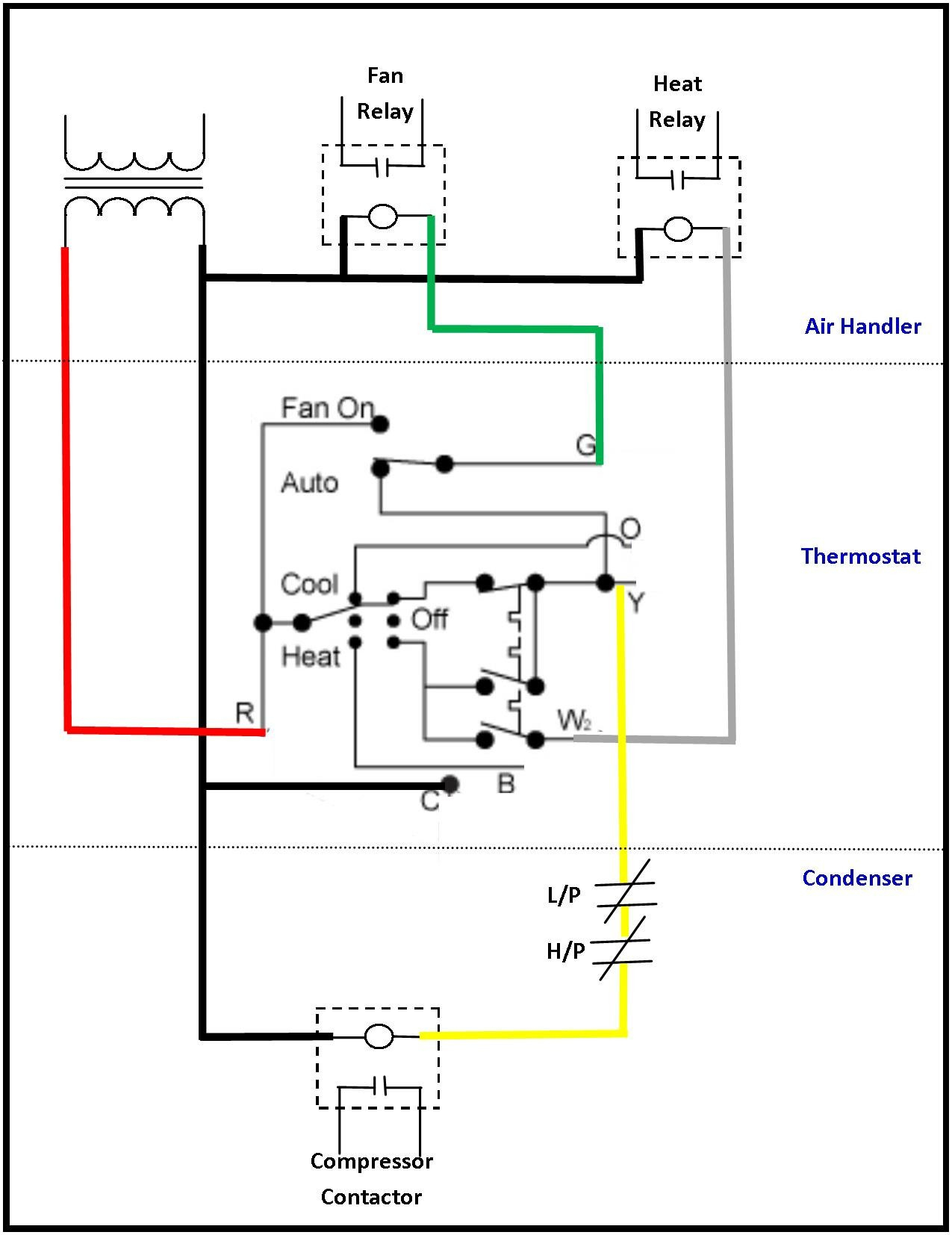 Ac Hvac Wiring - Wiring Diagram Data Oreo - Ac Thermostat Wiring Diagram