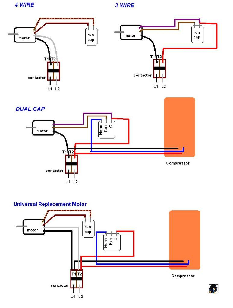 Ac Motor Capacitor Wiring - Wiring Diagram Data - Capacitor Wiring Diagram
