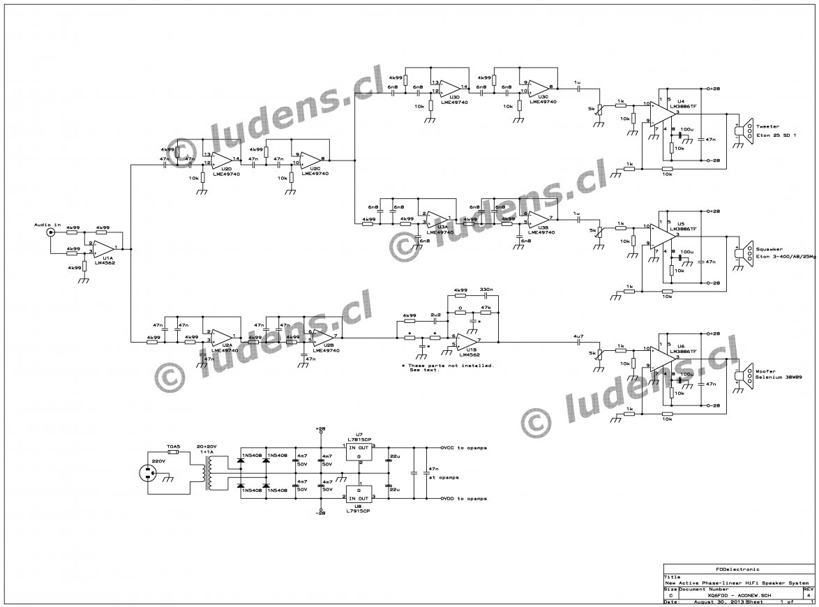 Active Crossover Wiring Diagram | Wiring Diagram - Speaker Crossover Wiring Diagram