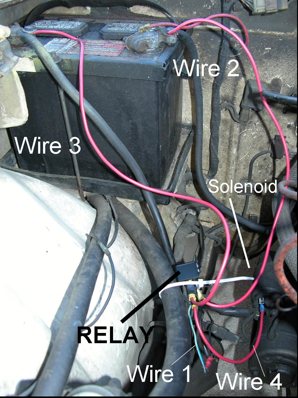 Addition Of A Relay To A 240Z Starter System - Starter Relay Wiring Diagram