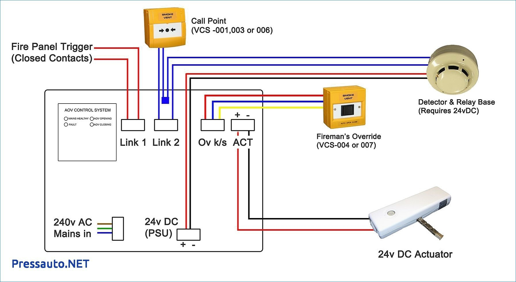 Addressable Smoke Detector Wiring Diagram | Wiring Diagram - Smoke Detector Wiring Diagram