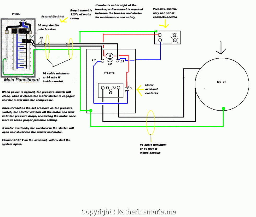 Air Compressor 240V Wiring Diagram | Manual E-Books - Air Compressor Wiring Diagram 240V