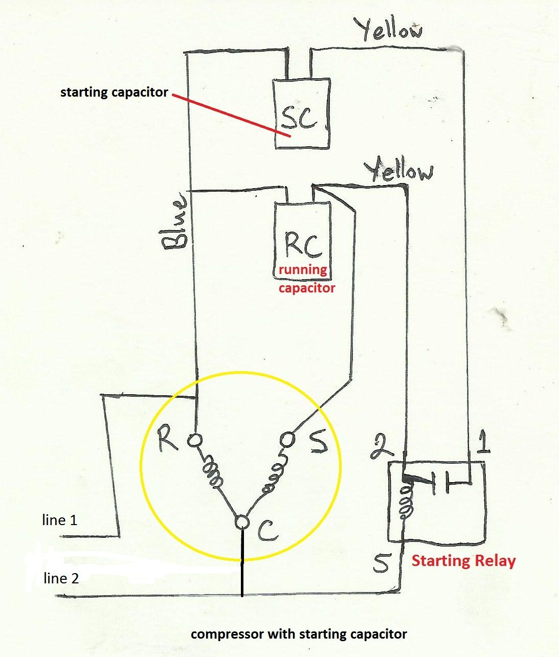Air Compressor Capacitor Wiring Diagram Before You Call A Ac Repair - Ac Compressor Wiring Diagram