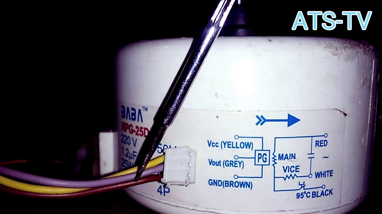 Air Conditioner Fan Motor Circuit Diagram - Youtube - Ac Fan Motor Wiring Diagram