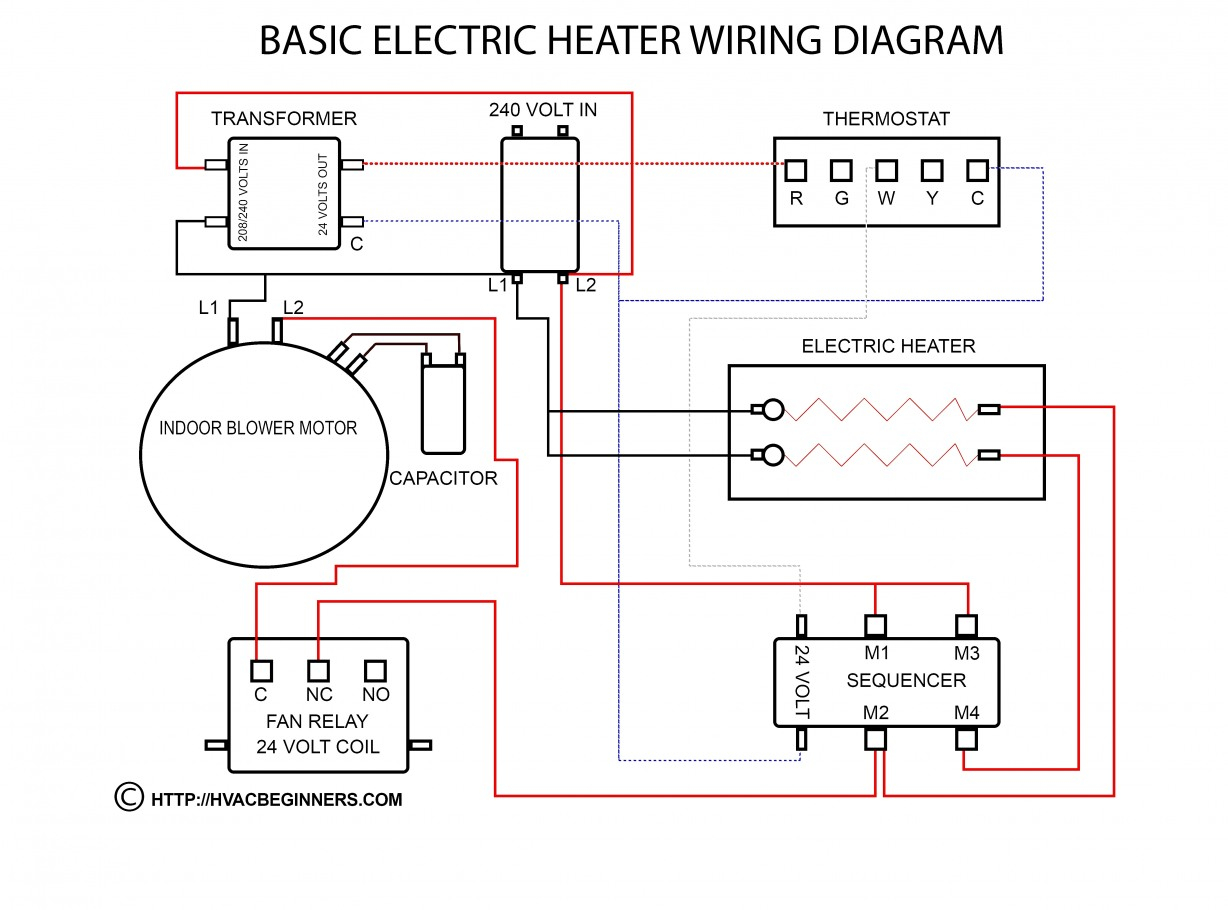 Amazing Of Baseboard Heater Thermostat Wiring Diagram Multiple - Baseboard Heater Thermostat Wiring Diagram