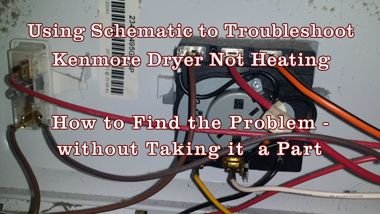 Appliance Repair - How To Read Schematics Diagram Kenmore/whirlpool - Dryer Wiring Diagram