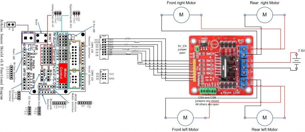 Arduino Robot Kit  U2013 Wiring Diagram