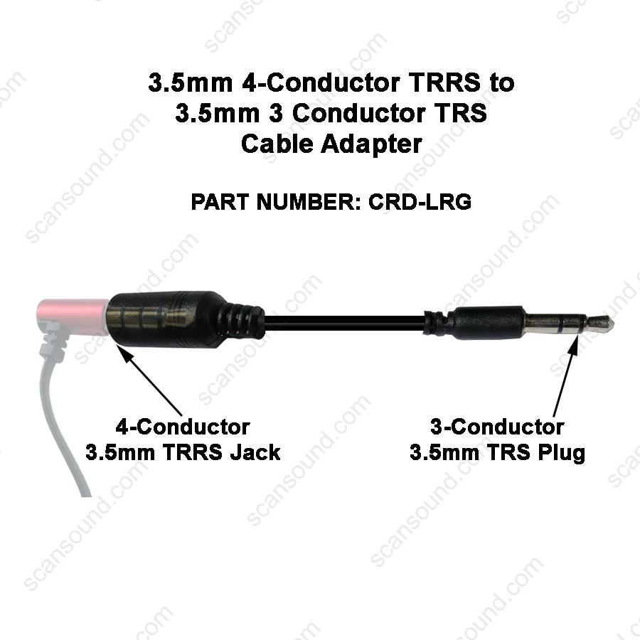 Audio Adapter 3.5Mm 4-Cond Female Jack With Cord Going To 3.5Mm 3 - 3.5 Mm Female Jack Wiring Diagram