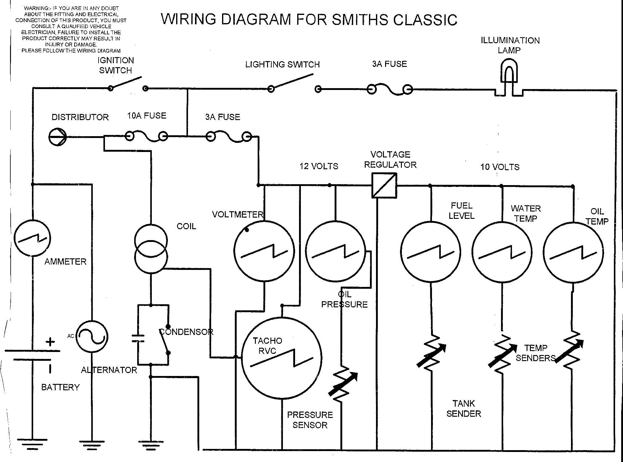 Auto Meter Speedo Wiring Diagram | Wiring Library - Universal Fuel Gauge Wiring Diagram