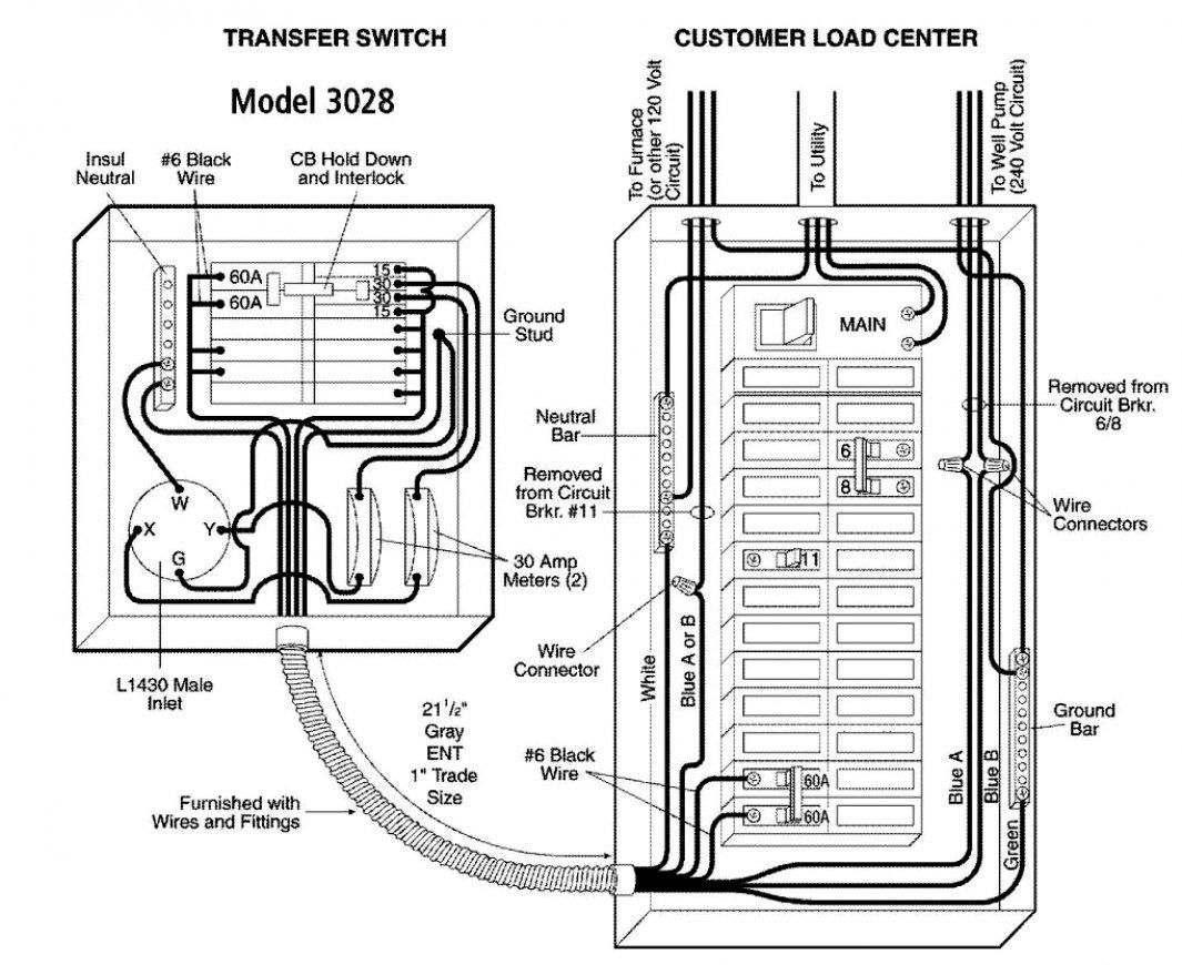 Auto Transfer Switch Wiring Diagram | Manual E-Books - Generator Automatic Transfer Switch Wiring Diagram