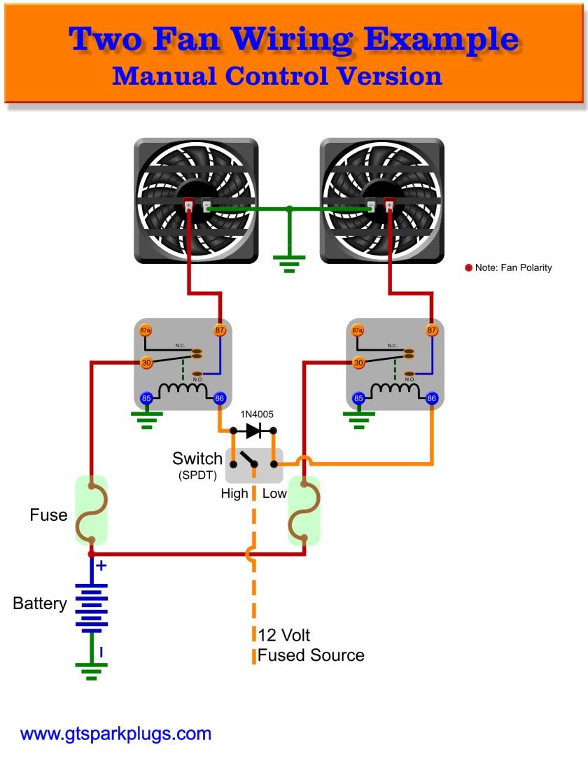 Automotive Electric Fans   Gtsparkplugs - Fan Relay Wiring Diagram