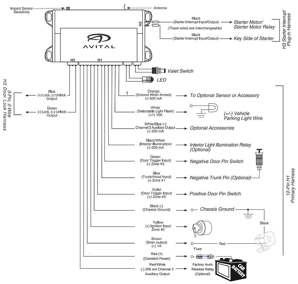 Avital 4111 Wiring Diagram | Wiring Library - Dball2 Wiring Diagram