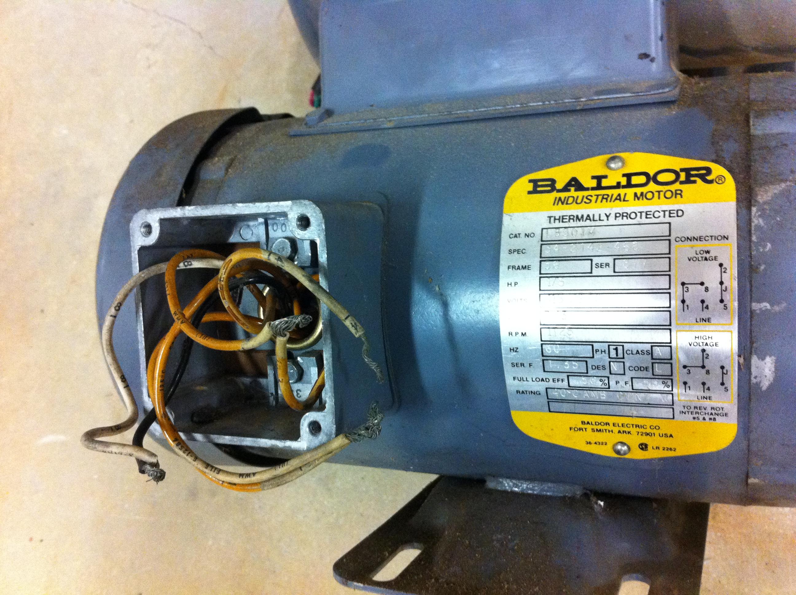 Baldor Motor Schematic | Manual E-Books - Baldor Motor Wiring Diagram