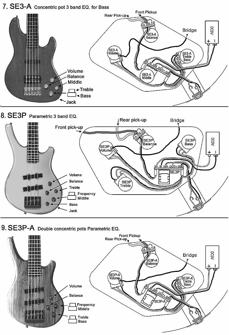 Bass Pickup Wiring Diagram | Manual E-Books - Bass Wiring Diagram