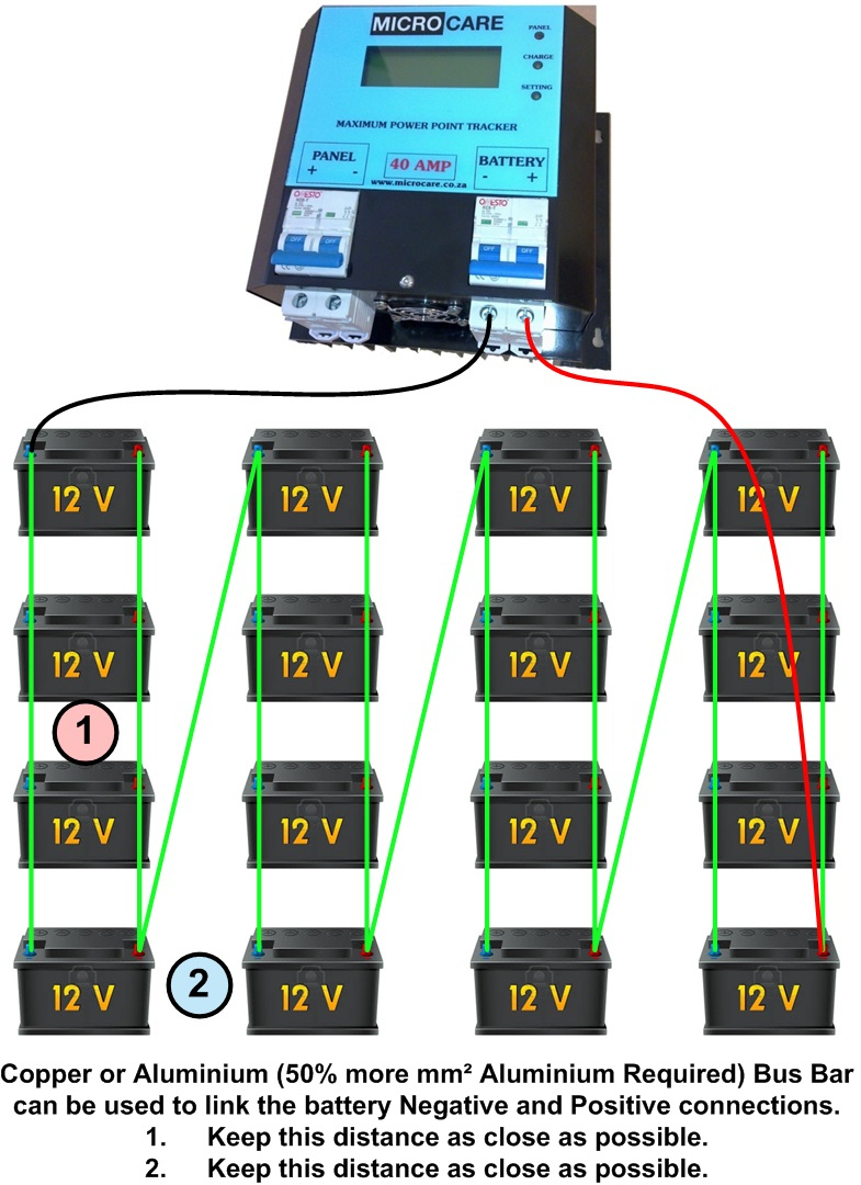 Battery Wiring Diagram | Microcare - Battery Wiring Diagram