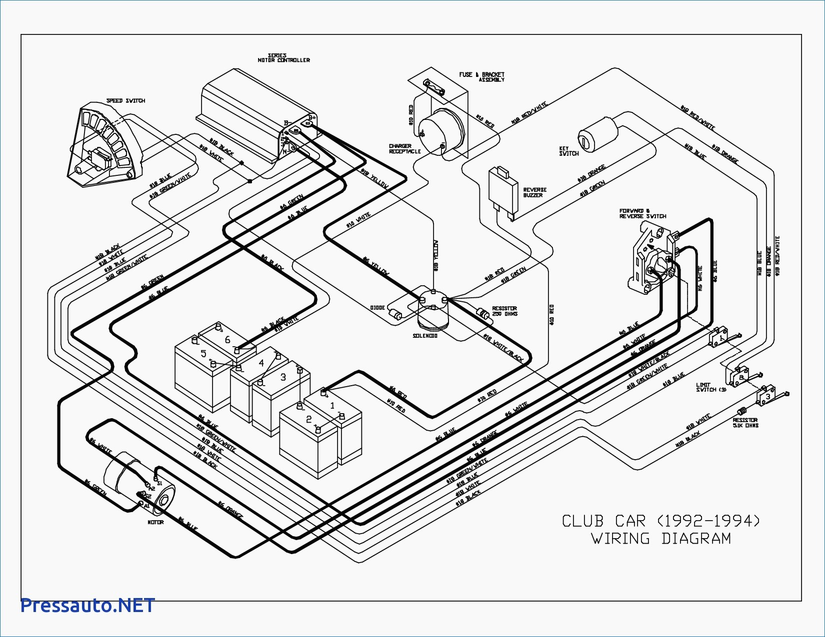 Battery Wiring For 2002 Club Car - Wiring Diagram Data - Club Car Wiring Diagram