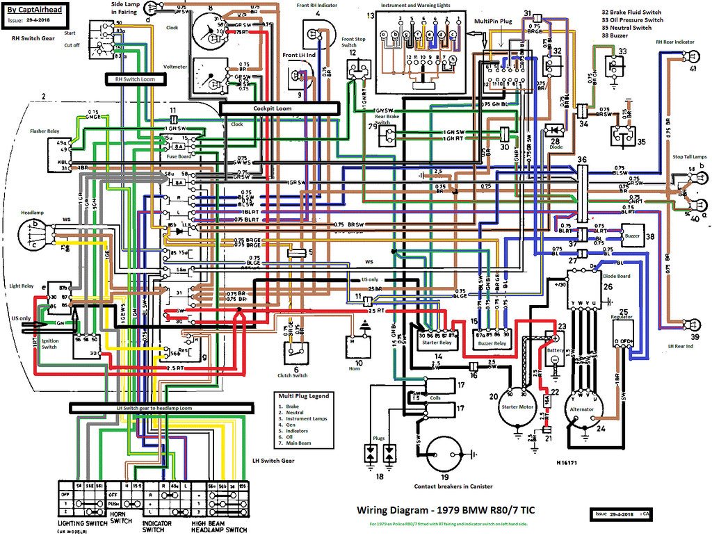 Bmw R80/7 Tic Updated Wiring Diagram | This Wiring Diagram S… | Flickr - Bmw Wiring Diagram