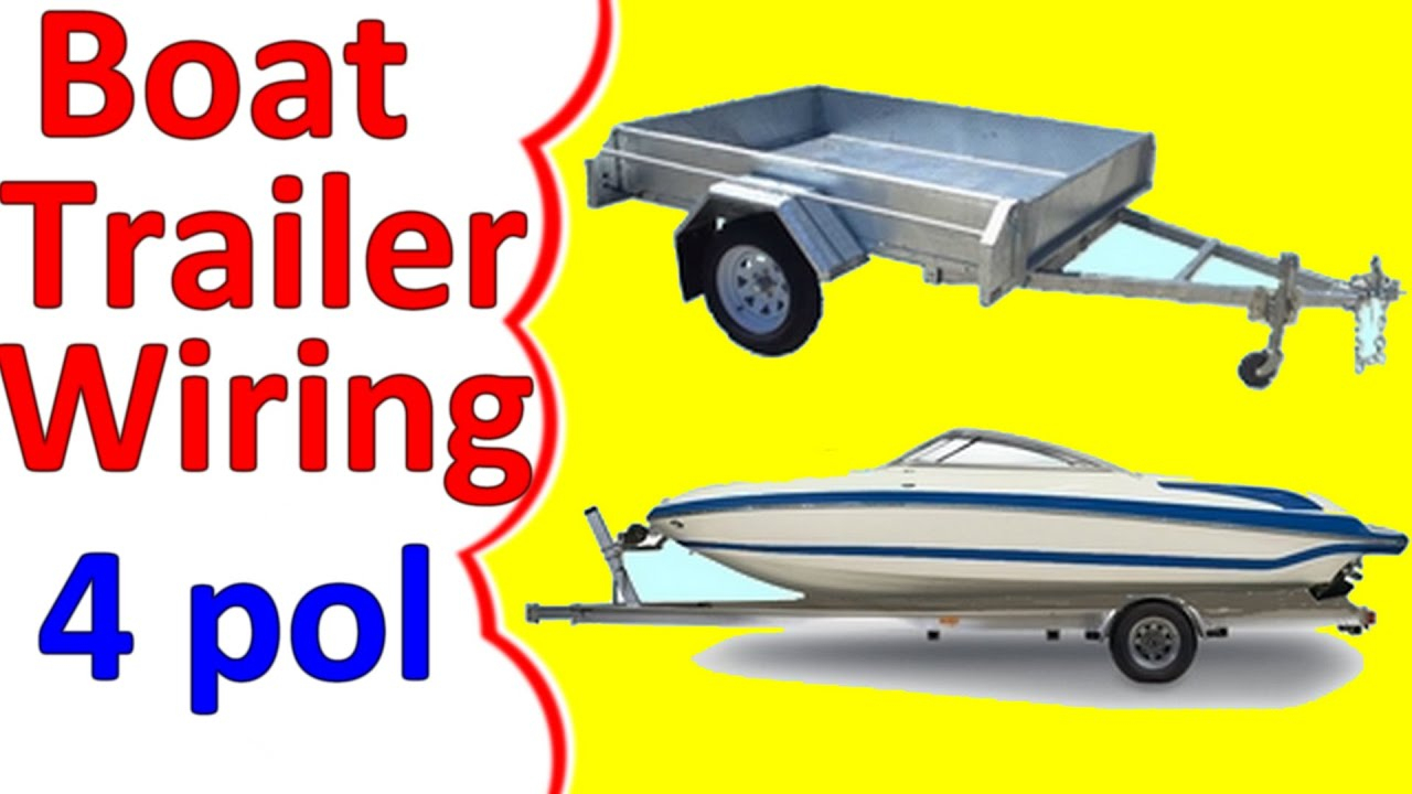Boat Trailer Wiring Diagram 4 Pin - Youtube - Boat Trailer Wiring Diagram