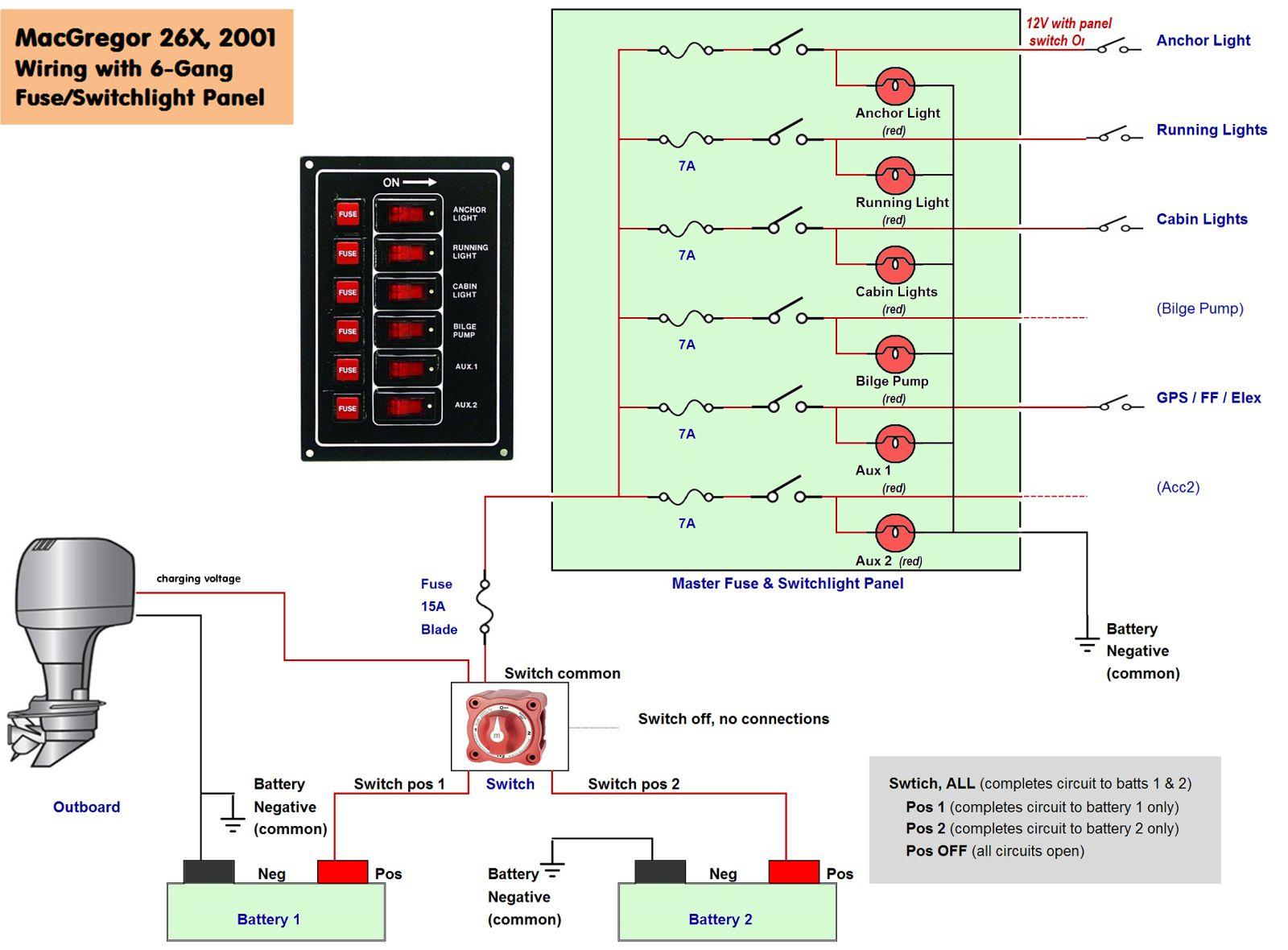 Boat Wiring Diagram | Boat | Boat Wiring, Boat, Boat Plans - Basic 12 Volt Boat Wiring Diagram