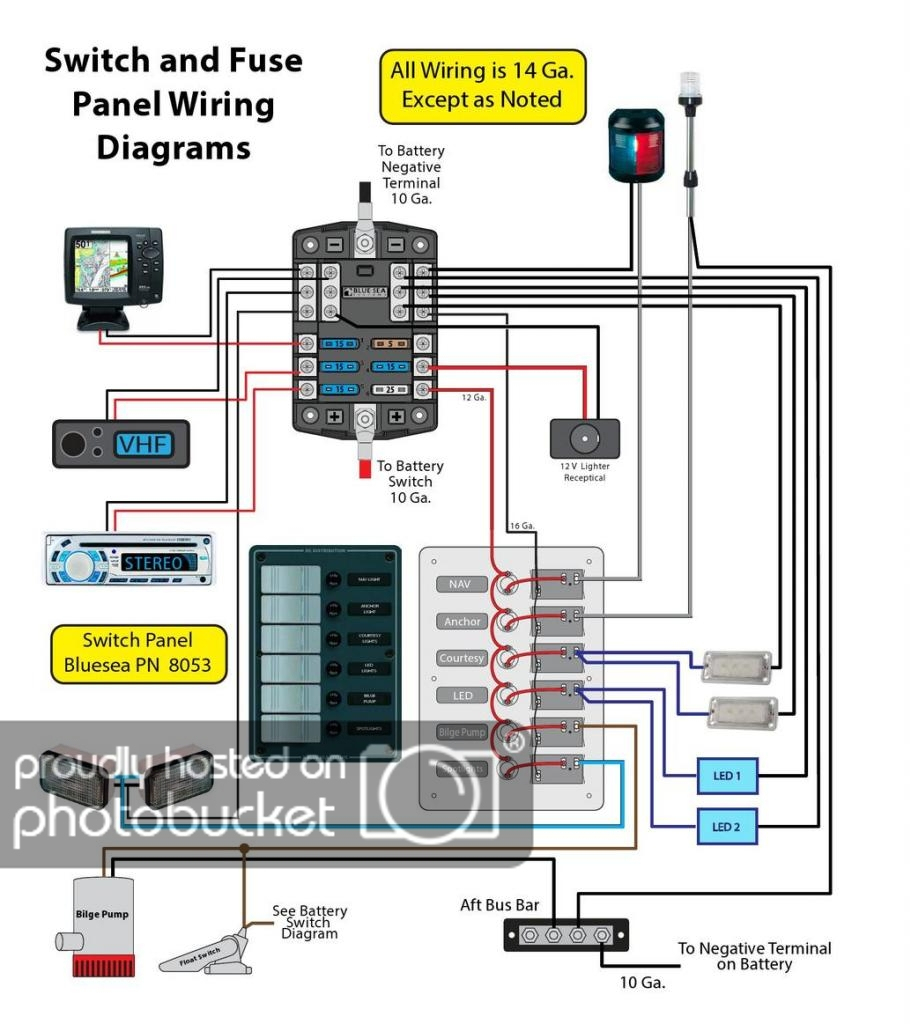 Boat Wiring Fuse Box Diagrams - Wiring Diagram Blog - Boat Fuse Panel Wiring Diagram
