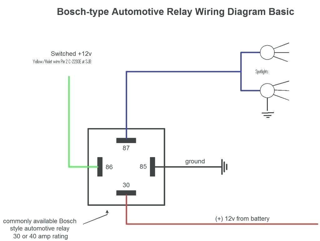 Bosch 12Vdc Relay Wiring | Wiring Diagram - Bosch 4 Pin Relay Wiring Diagram
