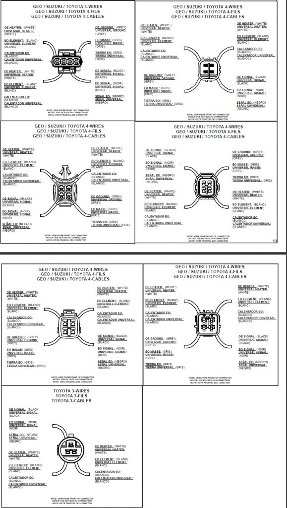 Bosch 4 Wire 02 Sensor Diagram