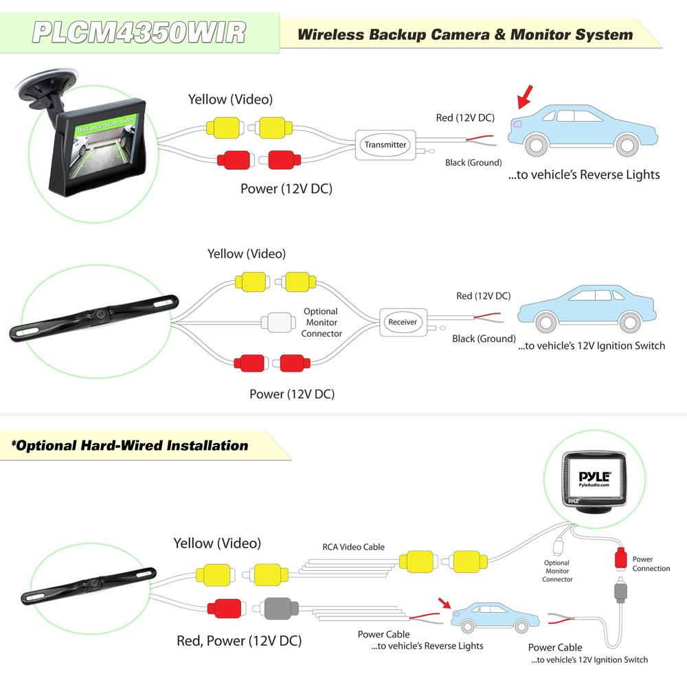 Boss Rear View Camera Wiring Diagram | Wiring Library - Leekooluu Backup Camera Wiring Diagram