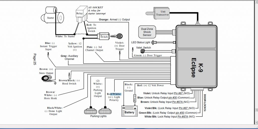 Bulldog Deluxe 500 Wiring Diagram