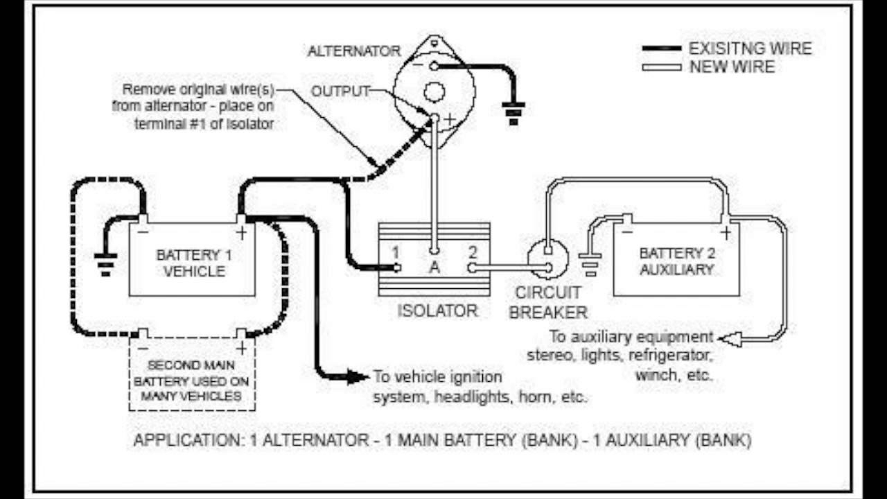 Canadian Energy™ - Battery Isolator : 101 - Youtube - Trailer Battery Wiring Diagram
