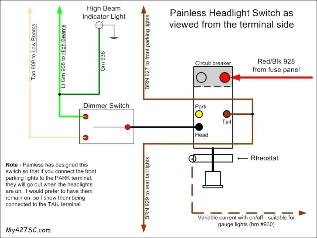 Car Dimmer Switch Wiring - Wiring Diagrams Click - Headlight Switch Wiring Diagram