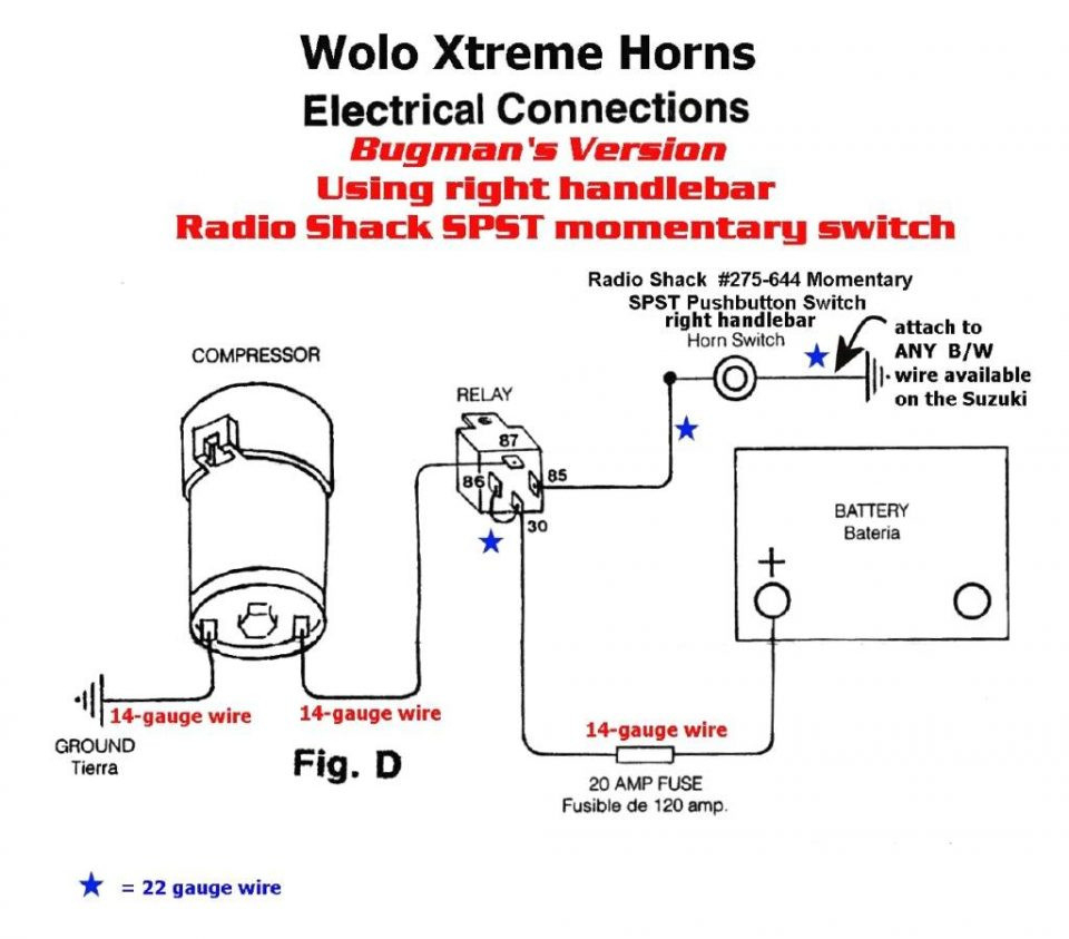 Car Horn Wiring Diagram | Manual E-Books - Car Horn Wiring Diagram