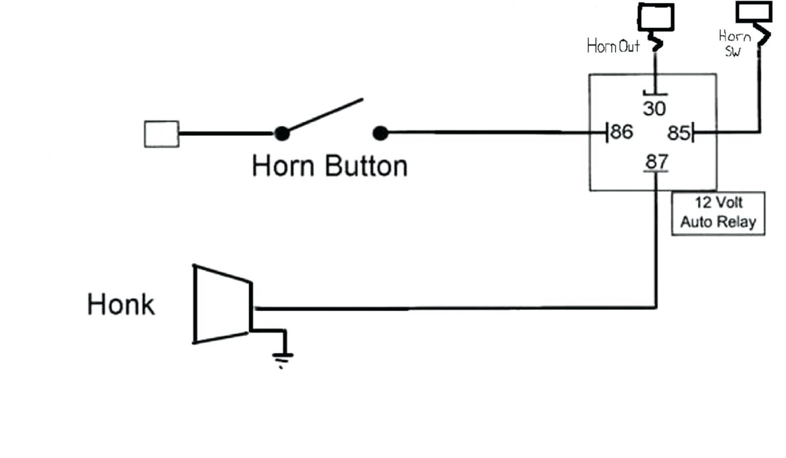 Car Horn Wiring - Wiring Diagram Data - Horn Wiring Diagram With Relay