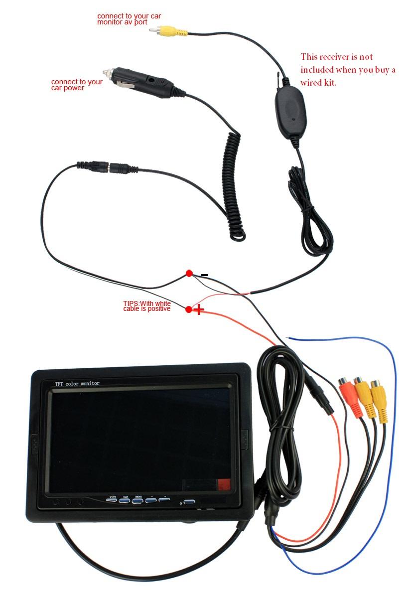 Car Monitor Wiring Diagram | Wiring Diagram - Tft Lcd Monitor Reversing Camera Wiring Diagram