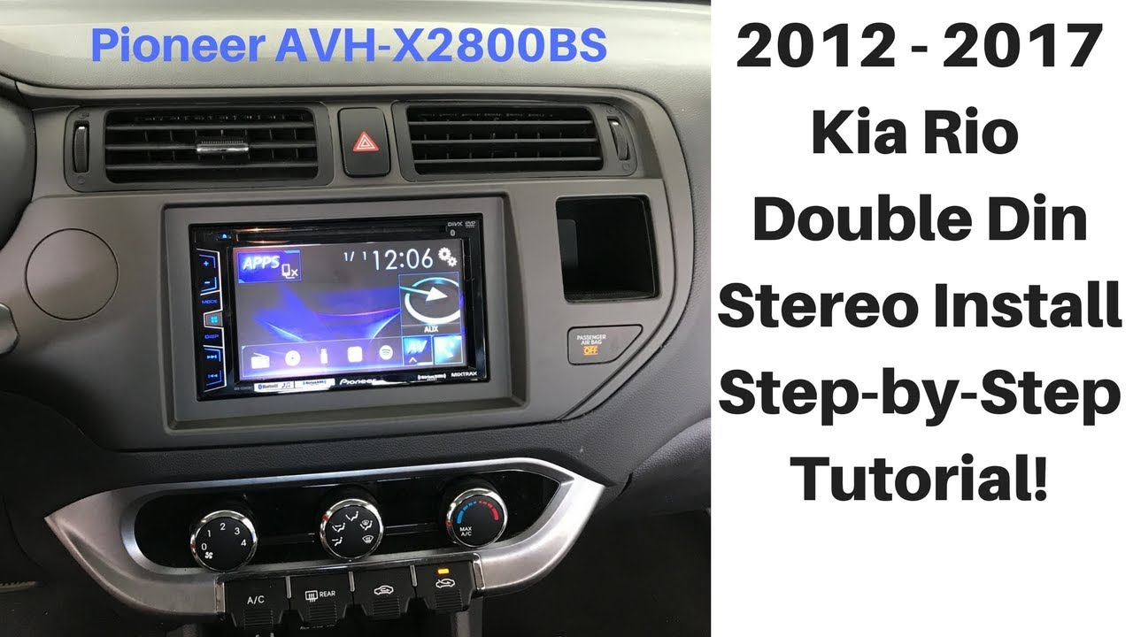 Car Stereo Wiring Harness For Kia Rio - Wiring Diagrams Hubs - Pioneer Avh-X2800Bs Wiring Harness Diagram