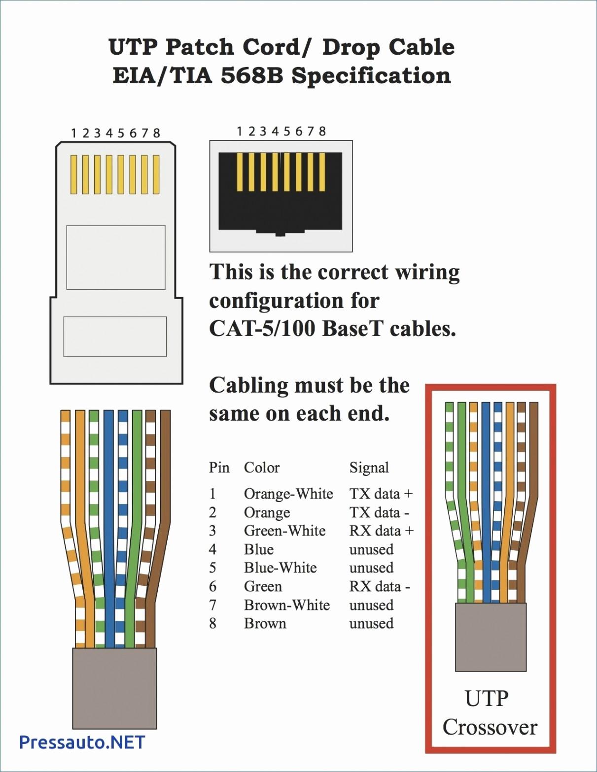 Cat5e Wiring Diagram