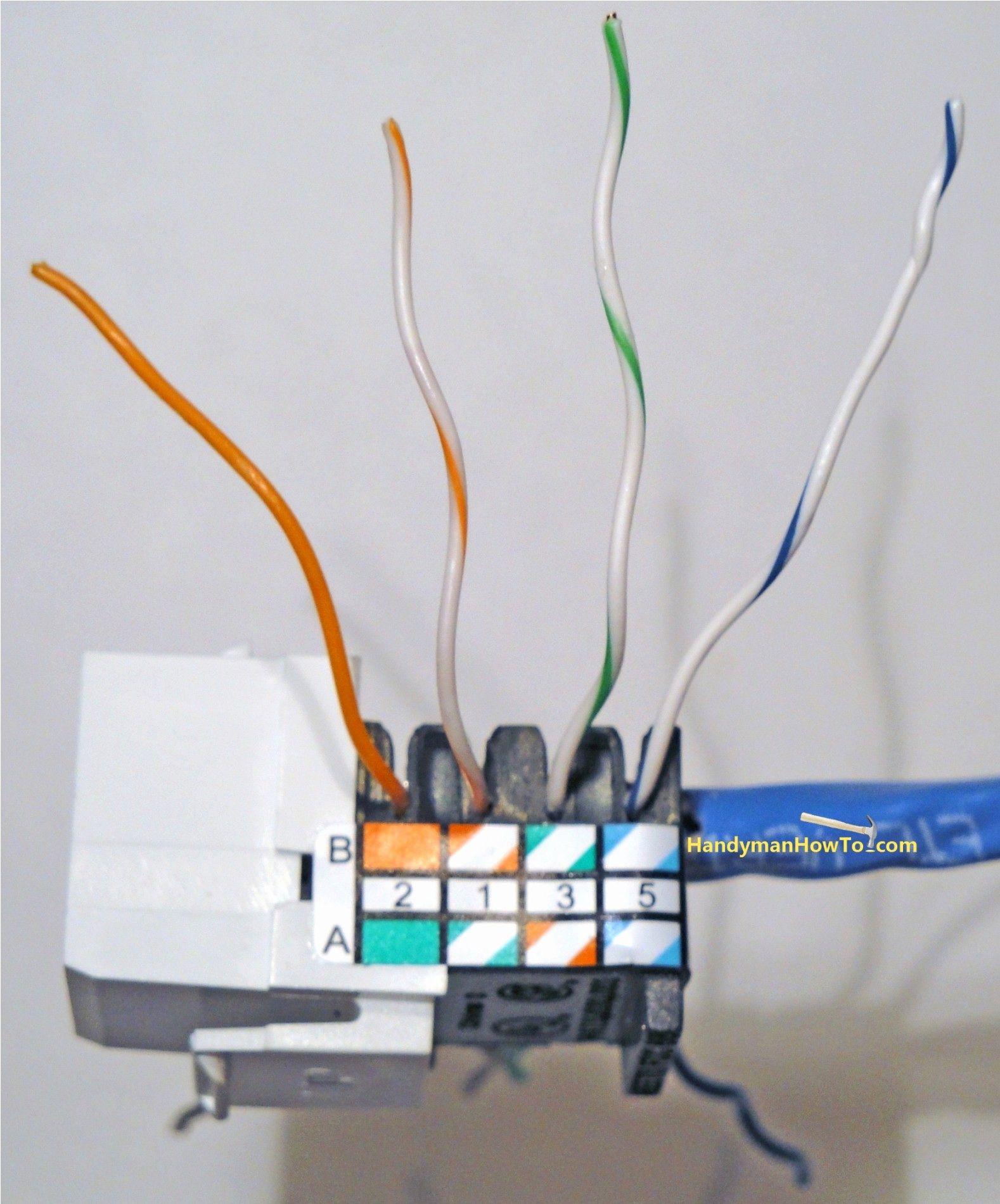 Cat5 Ethernet Wall Jack Wiring Diagram | Wiring Diagram - Cat5E Wiring Diagram Wall Plate