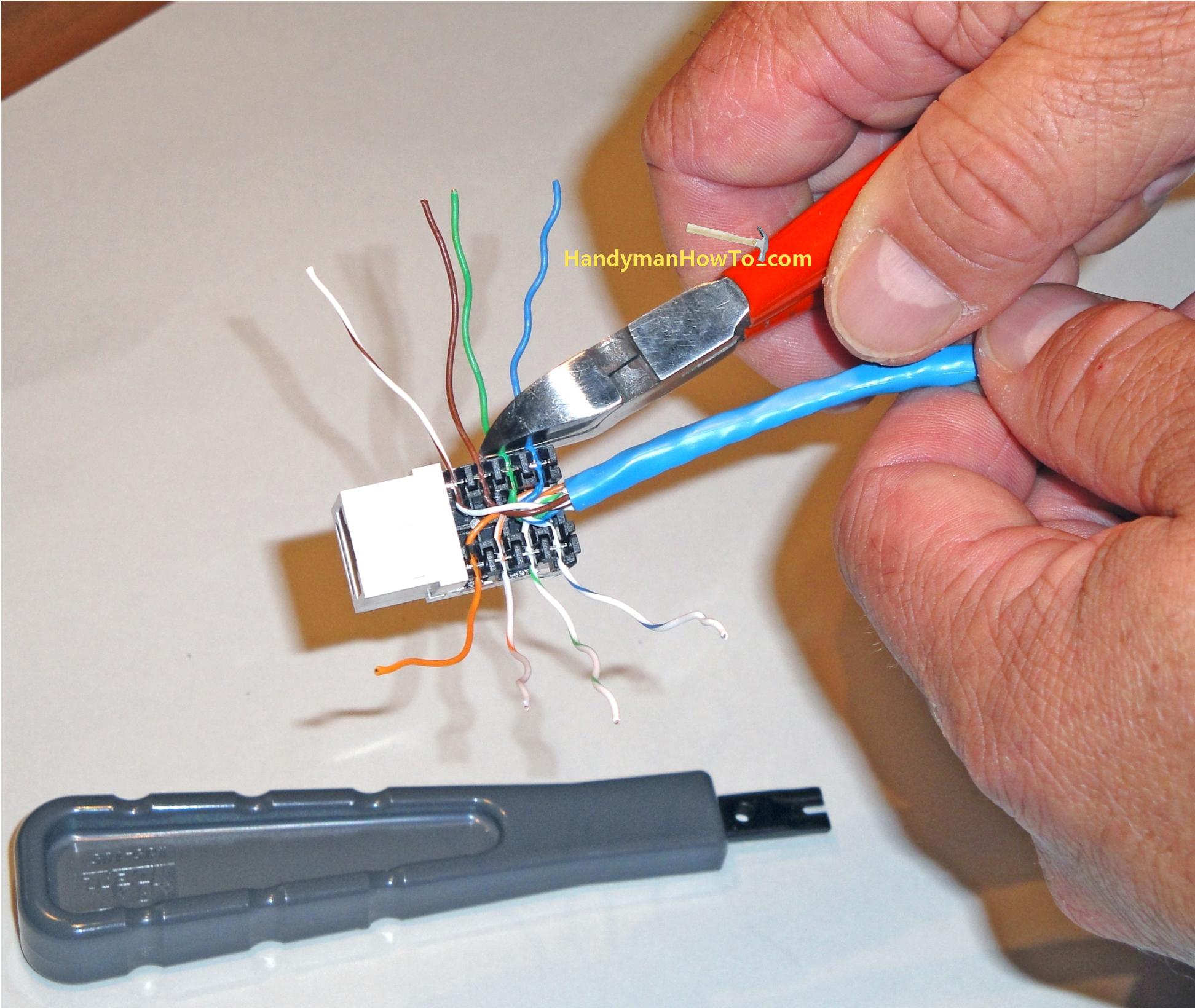 Cat5E Faceplate Wiring Diagram | Manual E-Books - Cat5E Wiring Diagram Wall Plate