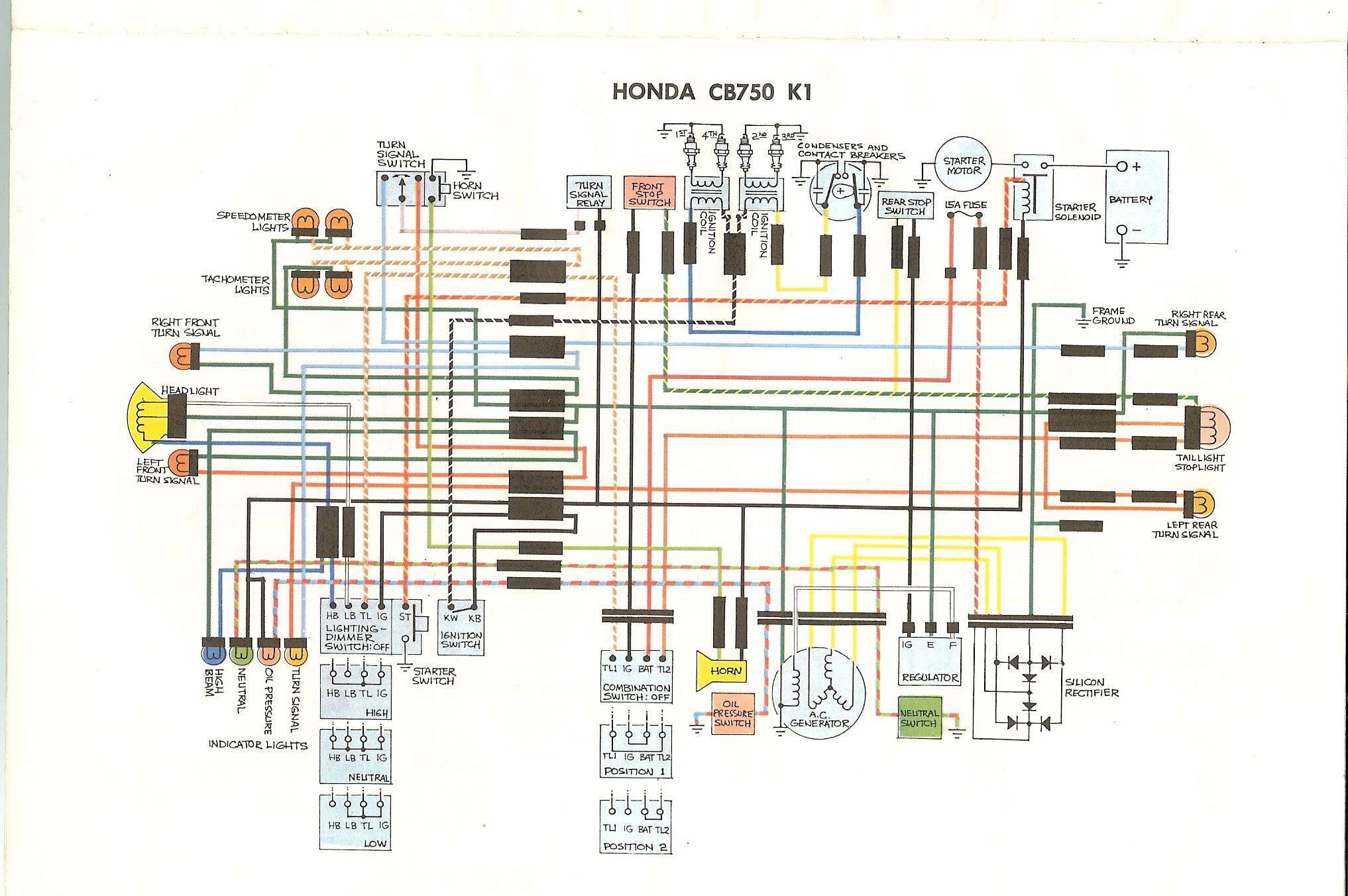 Cb750K - Cb750 Wiring Diagram