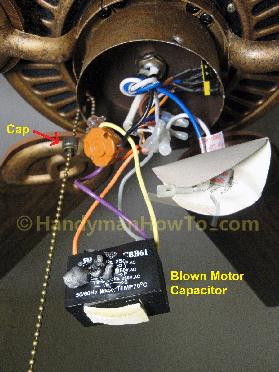 Ceiling Fan Motor Capacitor Wiring | Manual E-Books - Ceiling Fan Wiring Diagram With Capacitor