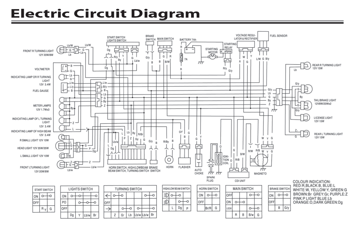 Cf Moto 500 Wiring Diagram | Manual E-Books - Gy6 Wiring Diagram