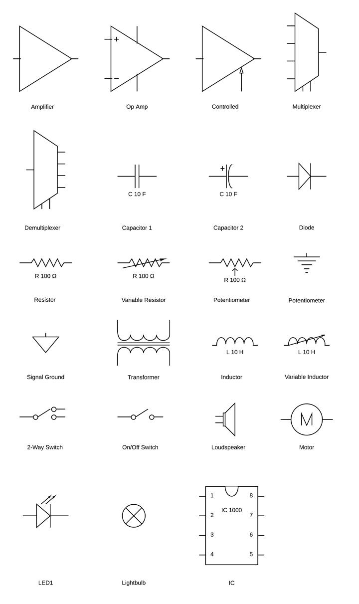 Circuit Diagram Symbols | Lucidchart - Wiring Diagram Symbols