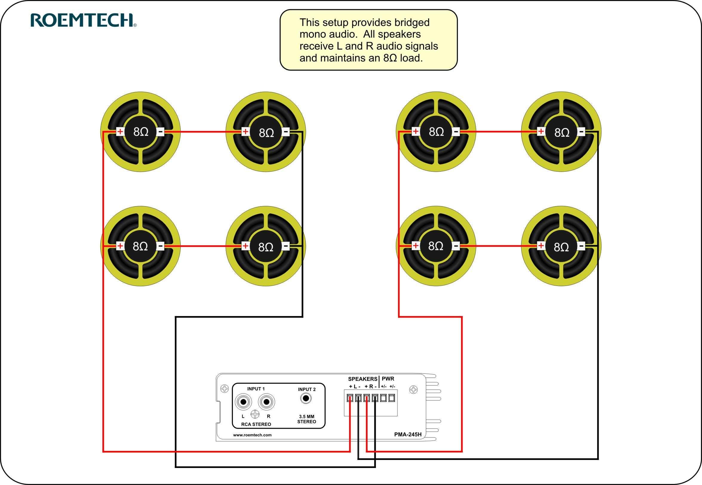 Classroom Audio Systems - Multiple Speaker Wiring Diagram | Kar - Home Speaker Wiring Diagram
