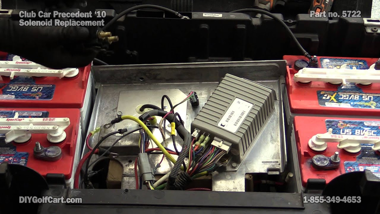 Club Car Precedent 48 Volt Solenoid | How To Replace On Golf Cart - 48 Volt Battery Wiring Diagram