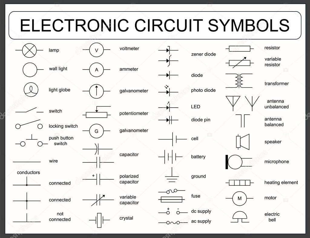 Commercial Wiring Symbols - Wiring Diagrams Click - Wiring Diagram Symbols