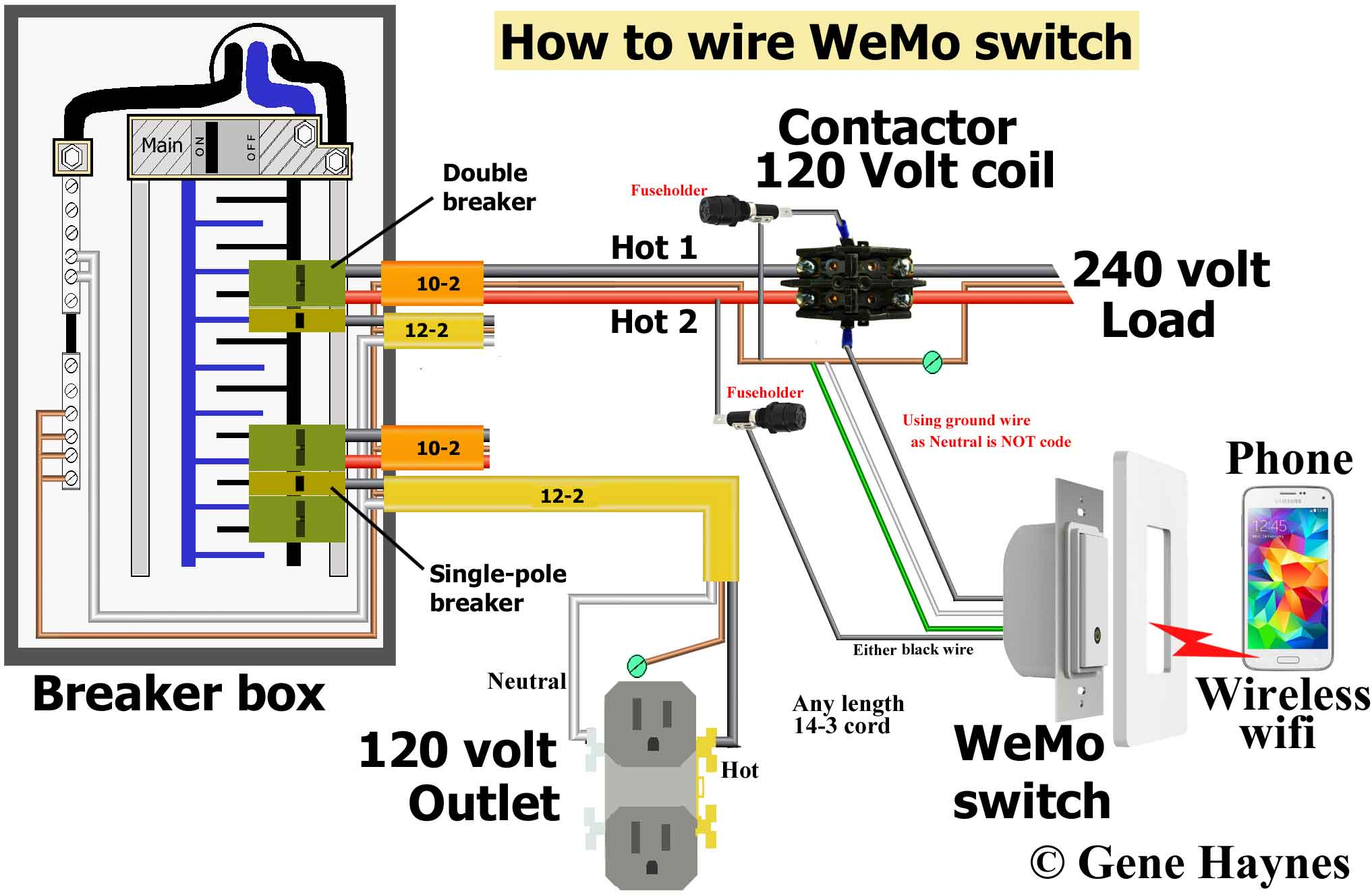 Control 240 Volt With Wemo - 240 Volt Plug Wiring Diagram