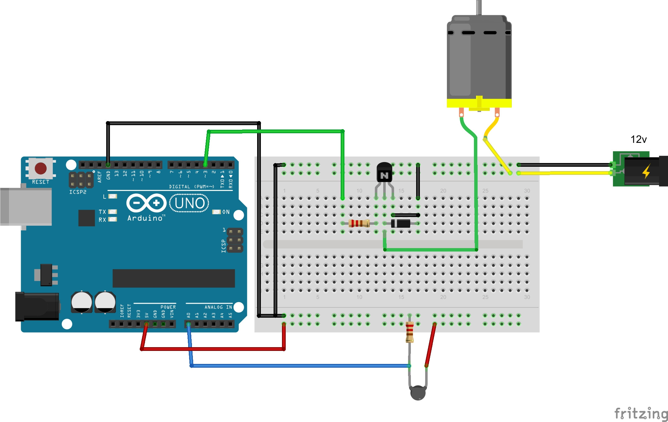 Controlling Speed Of Dc Motors Using Arduinohardware Fun Circuit - Start Stop Switch Wiring Diagram