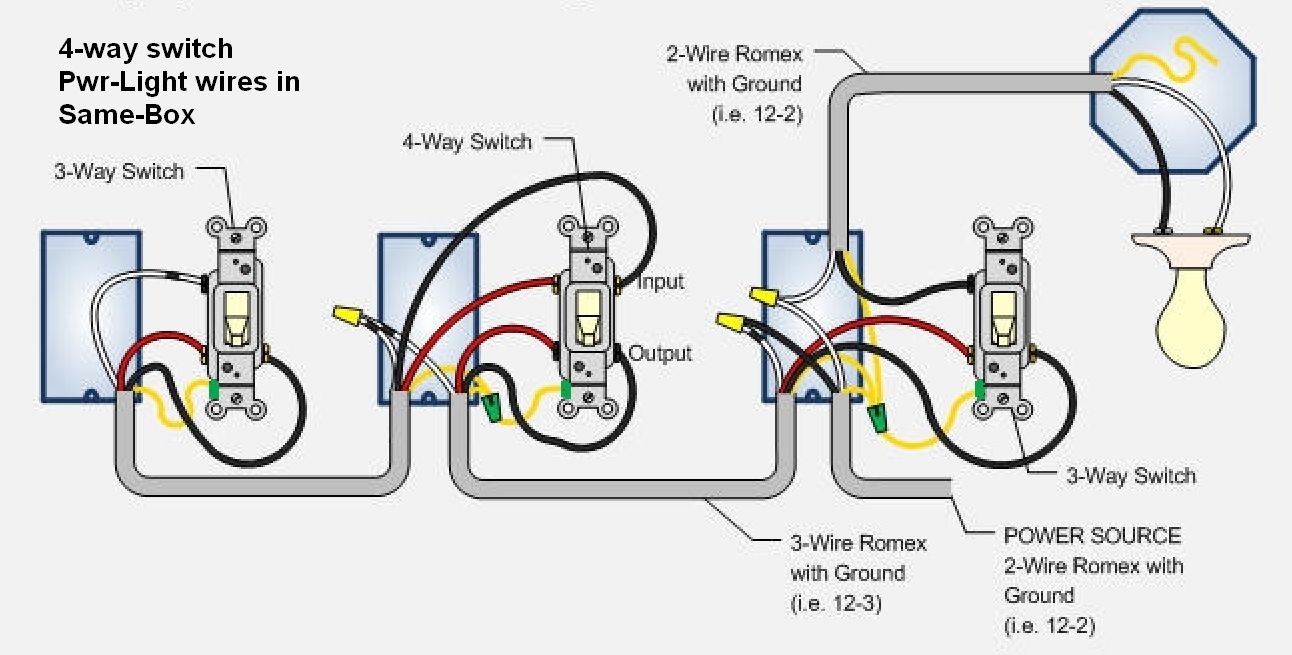 Cooper 4 Way Switch Wiring Diagram For | Switches | Pinterest - 4 Way Switch Wiring Diagram