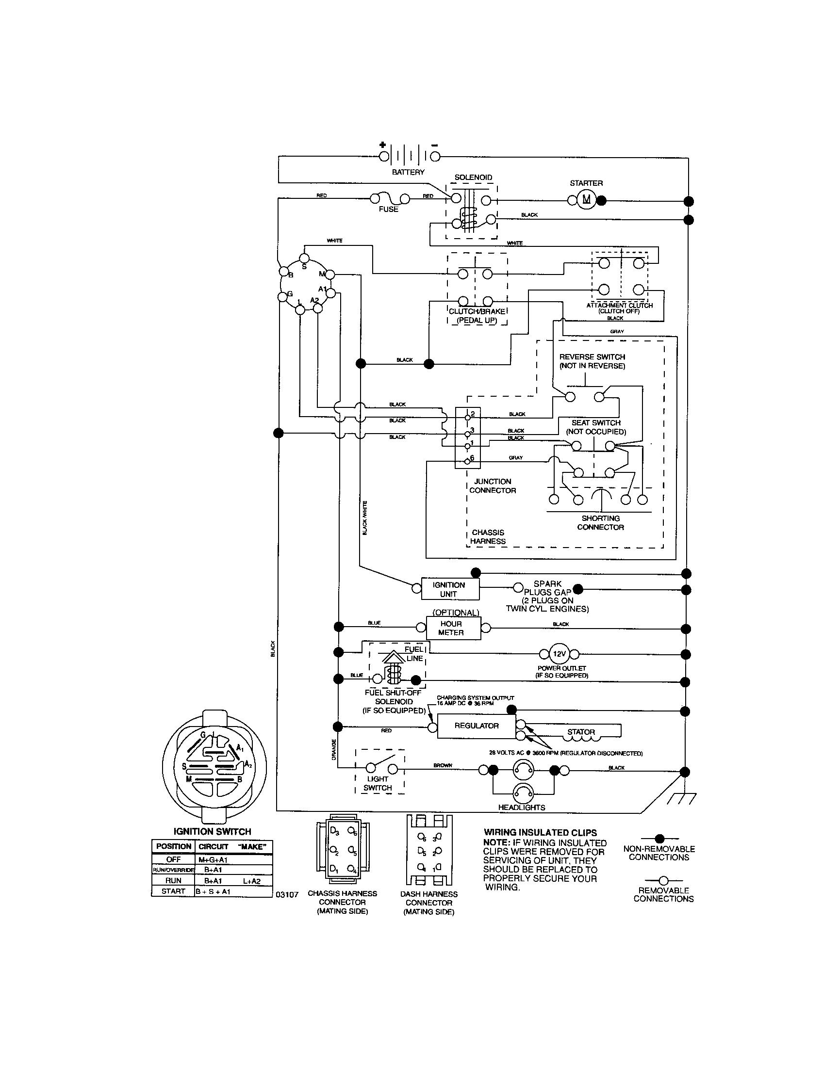 Craftsman Riding Mower Electrical Diagram | Wiring Diagram Craftsman - Riding Lawn Mower Wiring Diagram