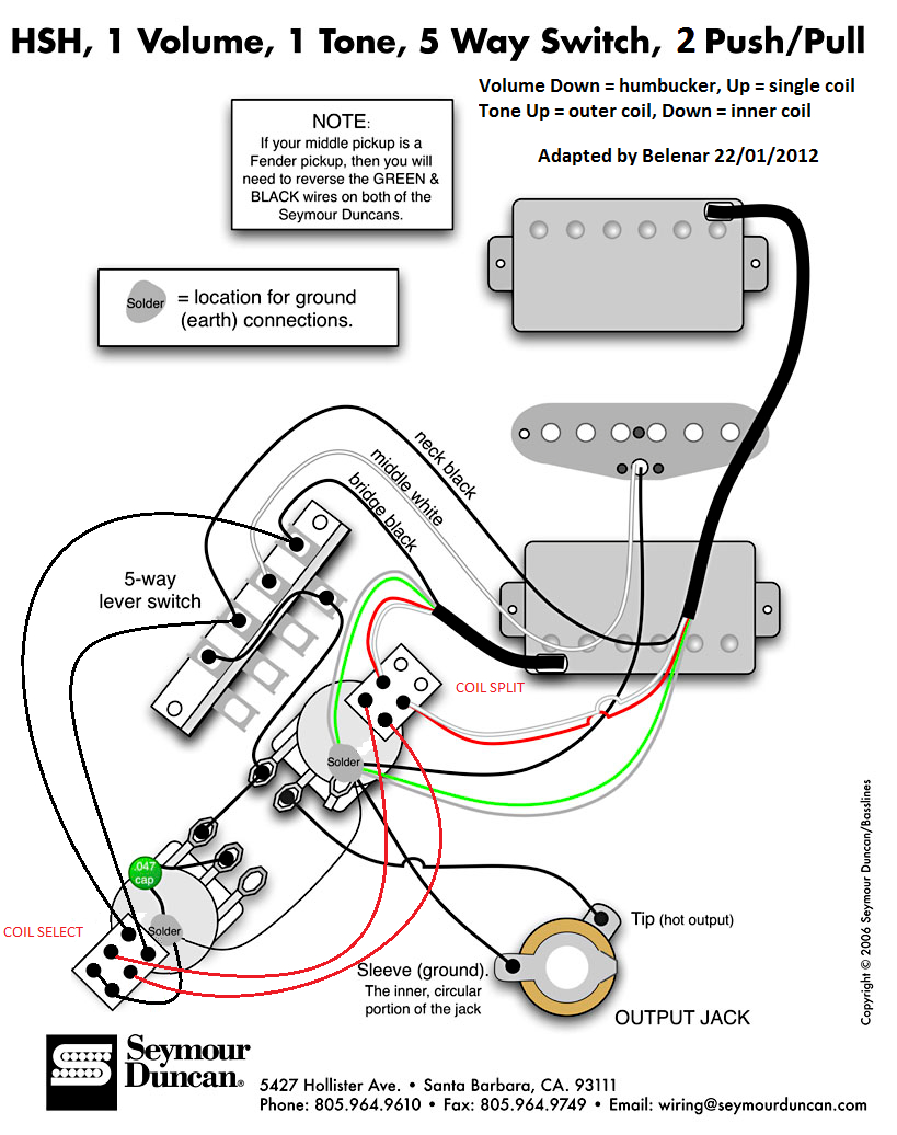 Custom Fender Stratocaster Hsh Wiring Help Guitarnutz 2 Best Of Hsh - Fender Strat Wiring Diagram